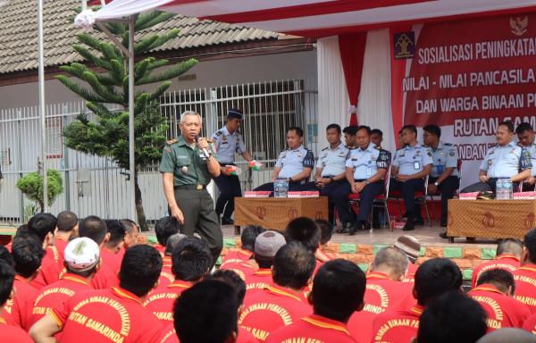Rutan Samarinda dan Koramil 0901-02 Adakan Sosialisasi Peningkatan dan Penguatan Pancasila