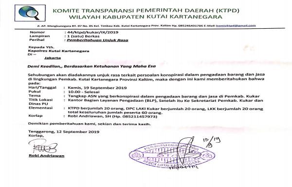 Rencana Demo di BLP dan PU, Tangkap ASN Pemain Proyek di Kukar.