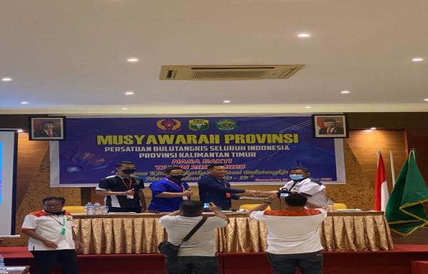 Musprov PBSI Kaltim memilih Mudiyat Noor Menjadi Ketua Terpilih